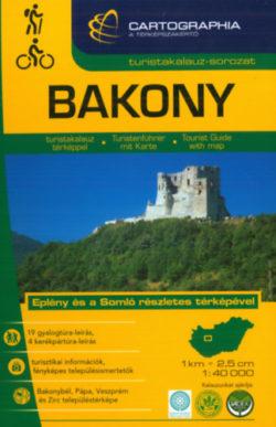 Bakony turistakalauz 1:40 000 - Eplény és a Somló részletes térképével -