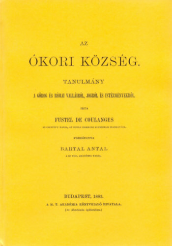 Az ókori község tanulmány a görög és római vallásról