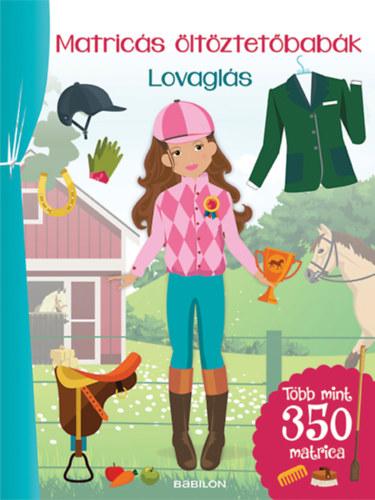 Matricás öltöztetőbabák - Lovaglás - Több mint 300 matrica - Eva Schindler
