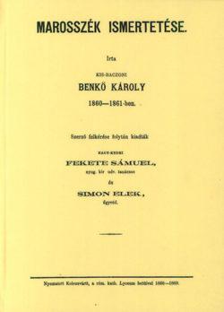 Marosszék ismertetése - Benkő Károly